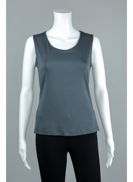 Comfy USA Charcoal Wide Strap Tank