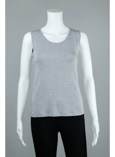 Comfy USA Heathered Grey Wide Strap Tank