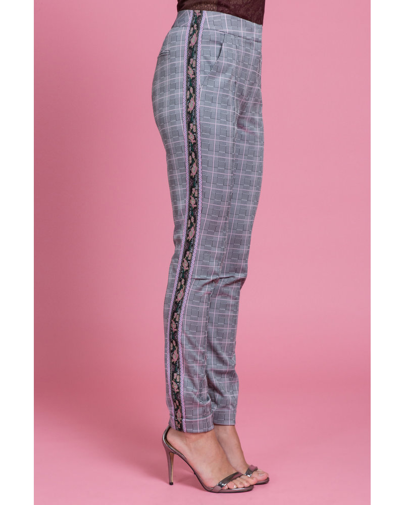 Byron Lars Beauty Mark Glen Pink Stretch Trouser