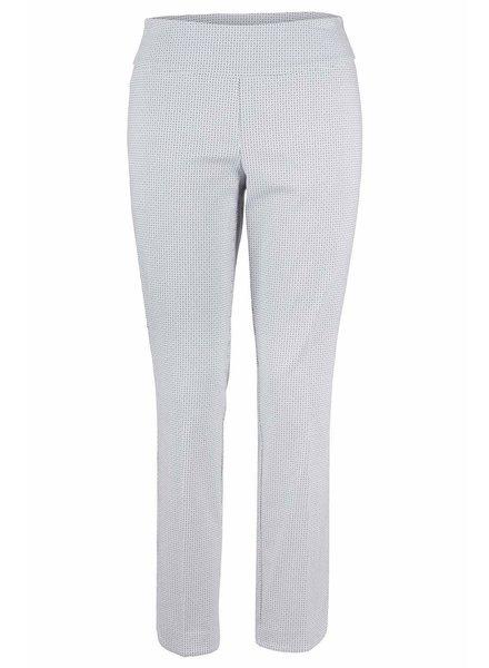 Up! Pants Rice White Blue Print Pant