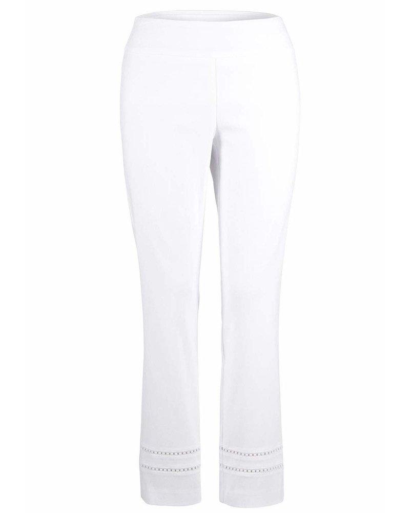 Up! Pants White Lace Detail Pant