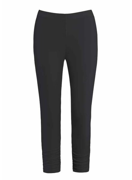 Dolcezza Black Ruched Ankle Knit Legging
