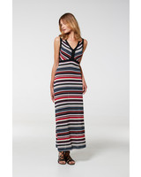 Aldo Martin Black Graz Mixed Stripe Maxi Dress