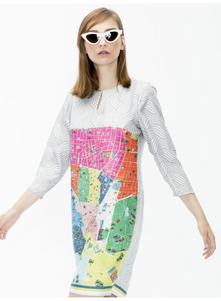 Vilagallo Tesa Madrid Print Dress