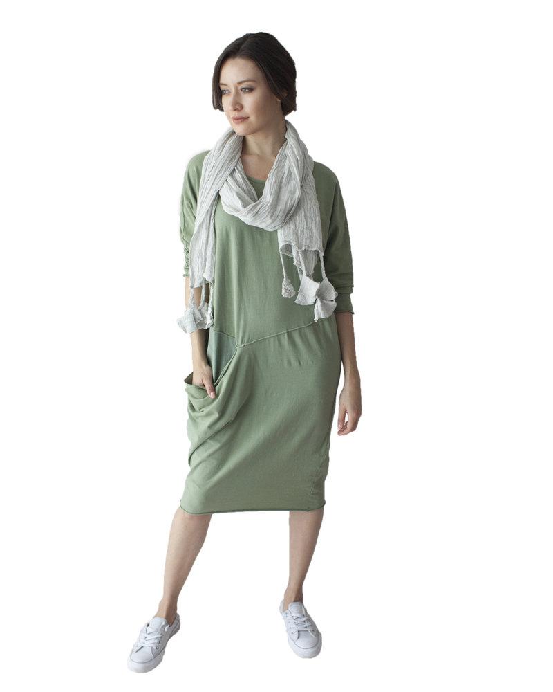 Luukaa Rita Large Pocket Stone Dress