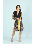 Petit Pois Scarf Print Combo Dress