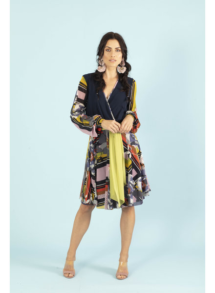 Petit Pois Scarf Print Combo Dress