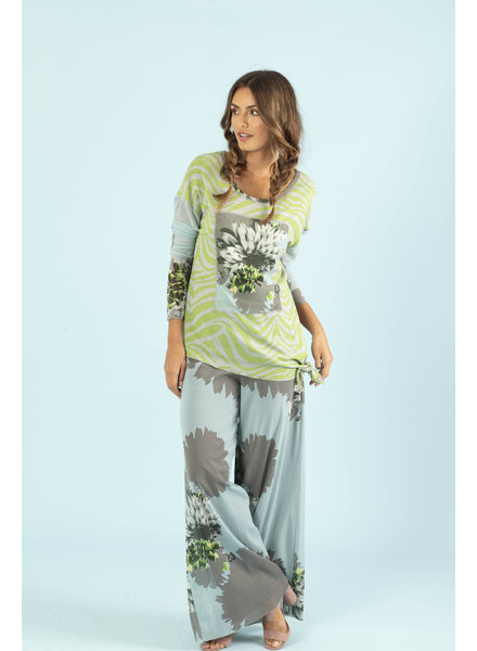 Petit Pois Green Zebra Loose Scoop Top