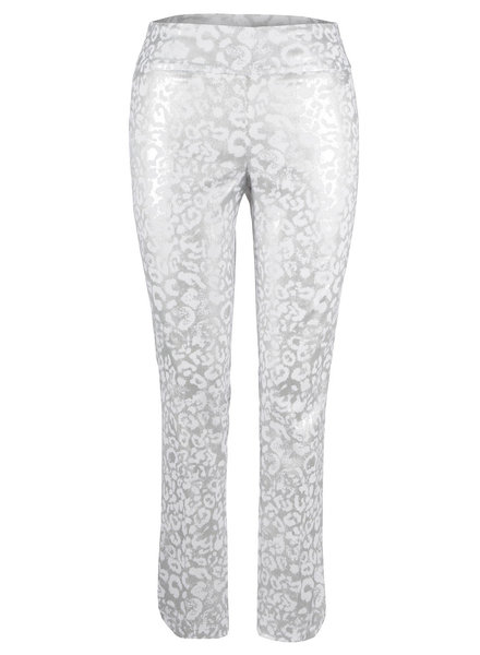 UP! Silver/White Lea Petal Pant