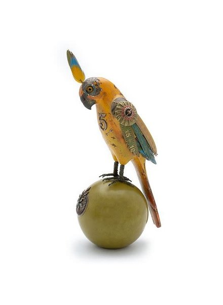 Mullanium Large Yellow Parrot On Ball