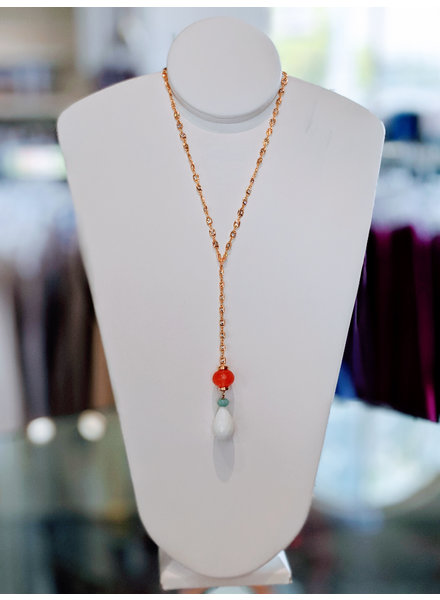 Semiprecious Lariat Necklace