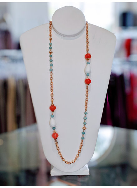 Long Chain & Pave Necklace