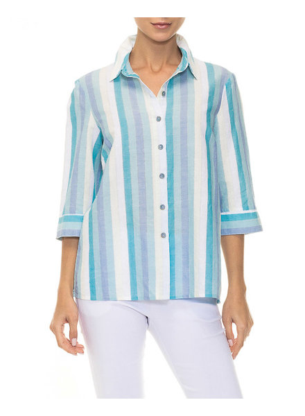 Lily Moss Blue Combo Woven Blouse