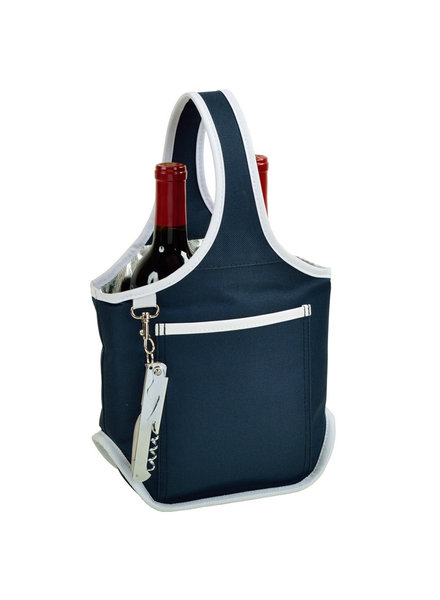 Navy Two Bottle Carrier