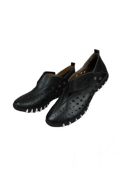 LitFoot Black Velcro Travel Sneaker