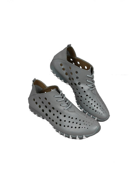 LitFoot Grey Lace Up Travel Sneaker