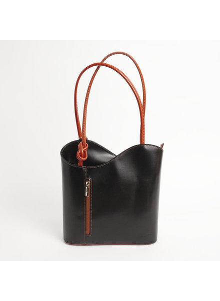 Solo Perche Bags Black/Tan Varese Tote