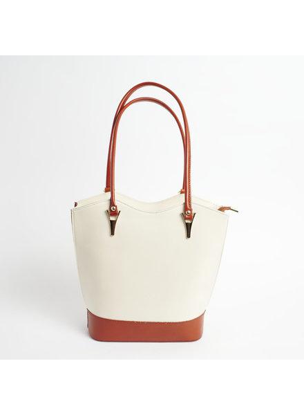 Solo Perche Bags Cream/Tan Radda Tote