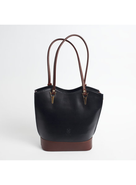 Solo Perche Bags Black/Brown Radda Tote