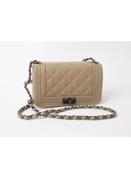 Solo Perche Bags Taupe Cento Cross Body