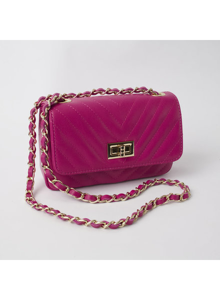 Solo Perche Bags Hot Pink Bobbio Cross Body