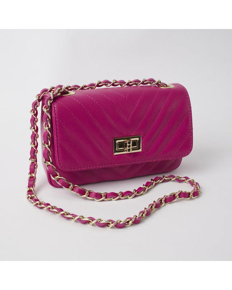 Solo Perche Bags Hot Pink Bobbio Cross Body