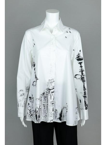Comfy USA Renaissance Print Naomi Shirt