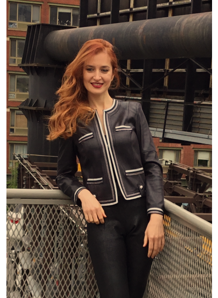 Insight Black & Silver Metallic Pleather Jacket