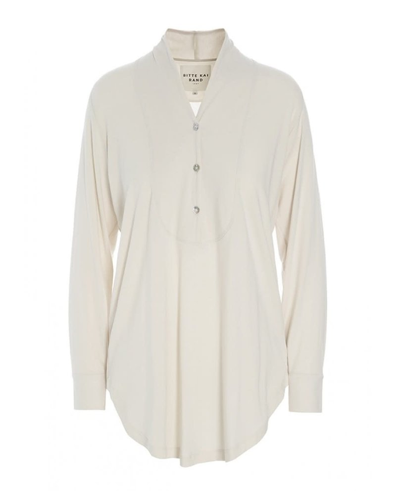 Bitte Kai Rand Ivory Atlas Jersey Blouse With Collar