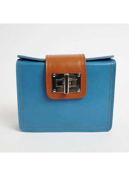 Solo Perche Bags Aqua Siena Cross Body