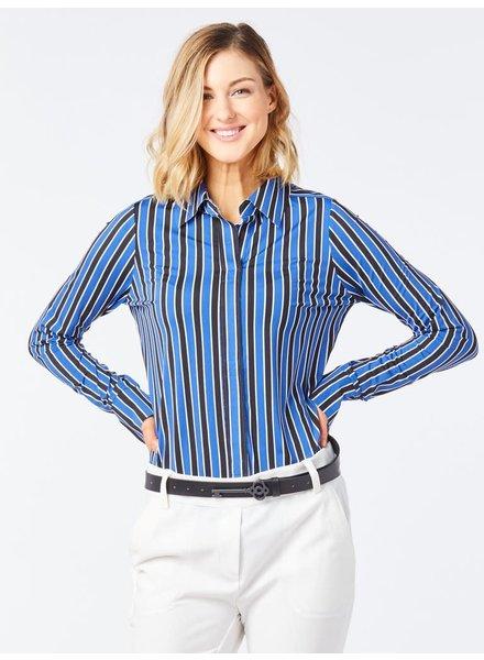 Belyn Key Biltmore Stripe Regency Long Sleeve Top