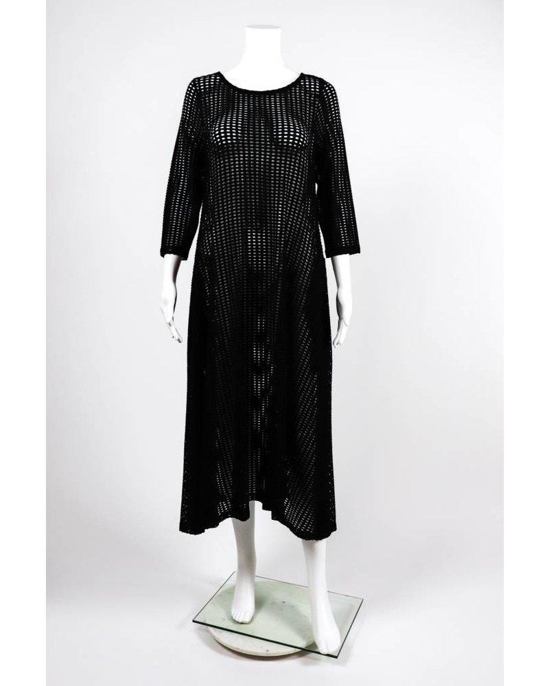 Alembika Perforated Trapeze Dress