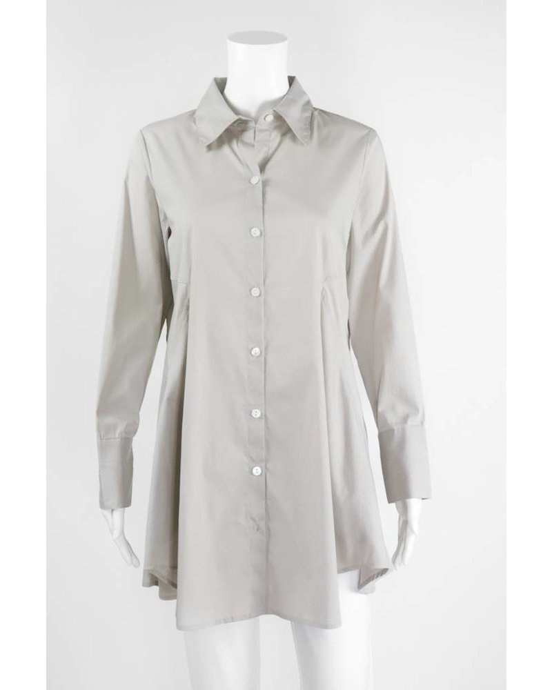 Inae Collection Button-Back Shirt Dress With Pockets