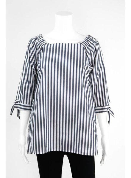 Inae Collection Poplin Tie Sleeve Tunic