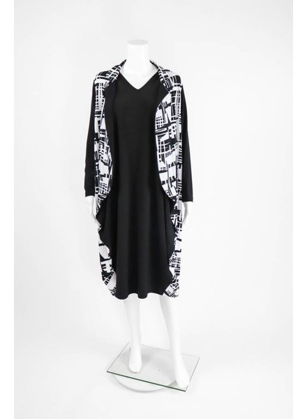 Comfy USA Sun Kim Graphic Faux Jacket Dress