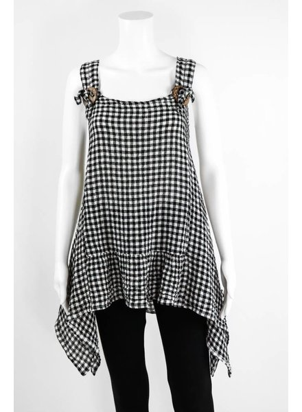 Luukaa Checked Tunic