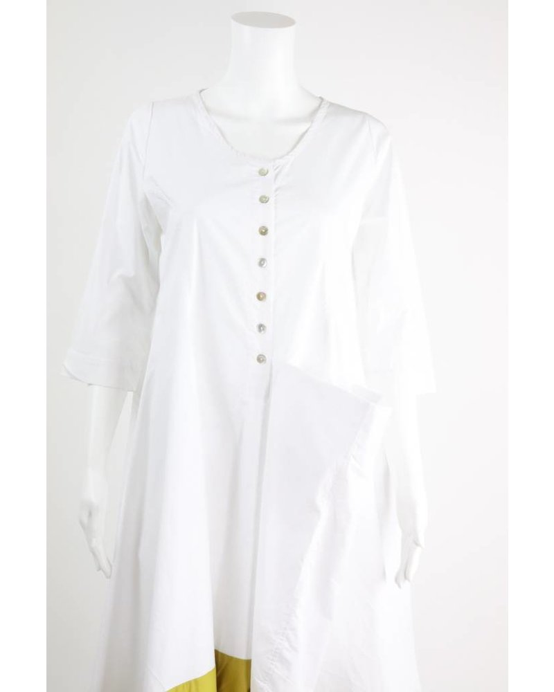 Alembika 3/4 Sleeve Green Border Dress