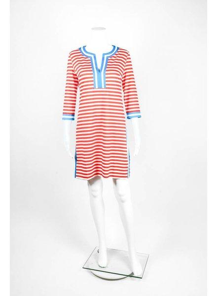 Gretchen Scott Split Neck Stripe Dress