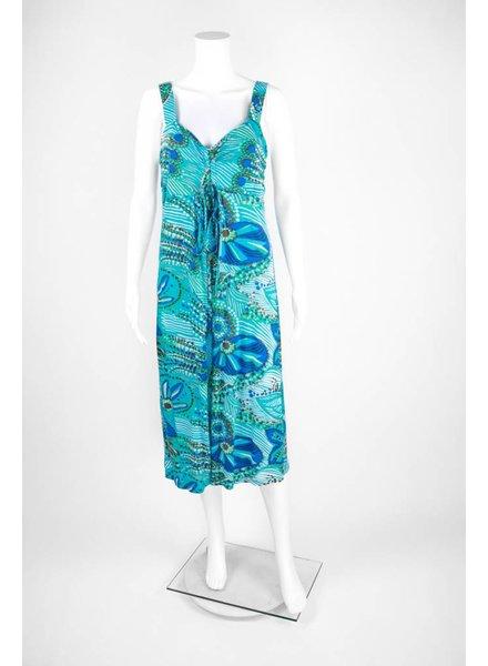 Wide Strap Floral Dress