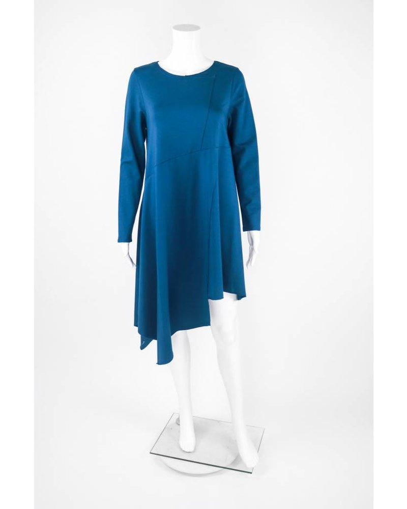 Chalet 3/4 Sleeve Crossed Fabric Dress