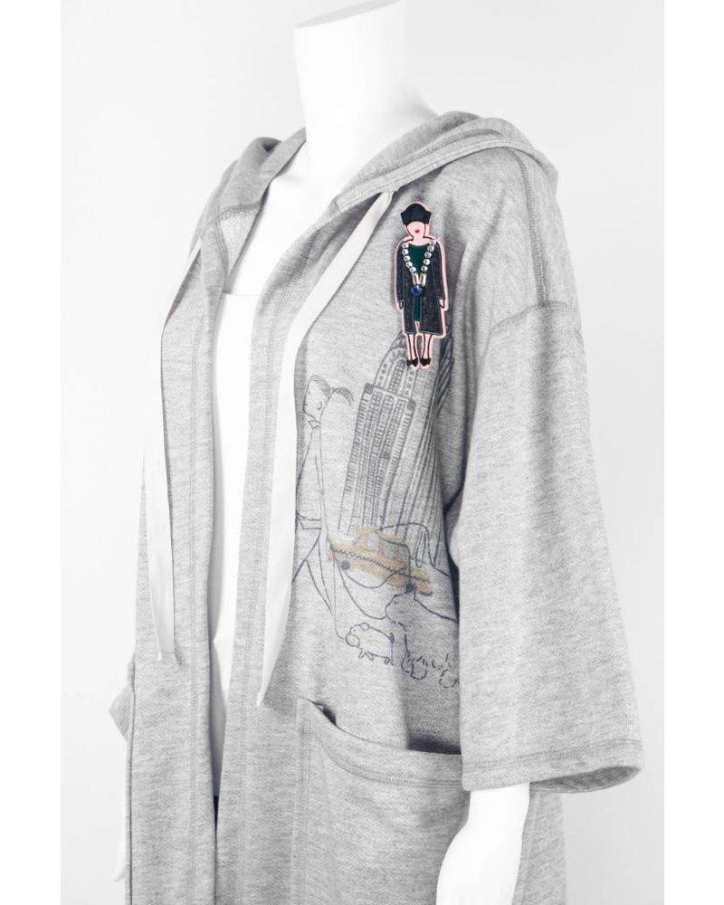 Inoah City Design Jacket With Pin