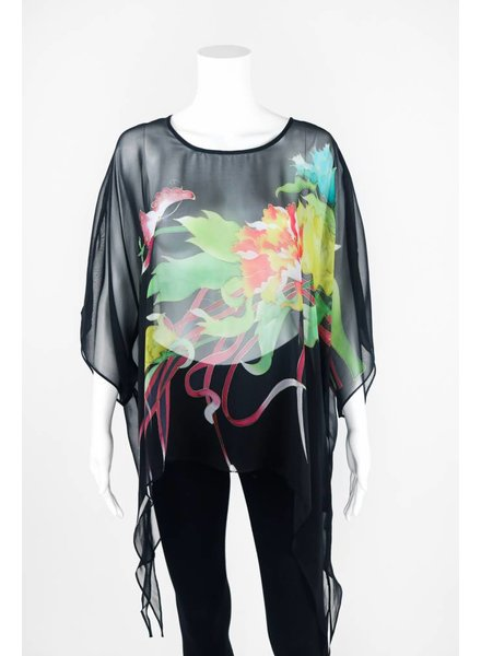 Cocoon House Silk Top With Long Points