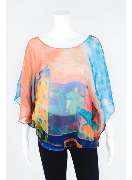 Cocoon House Silk Top With Silk Lining