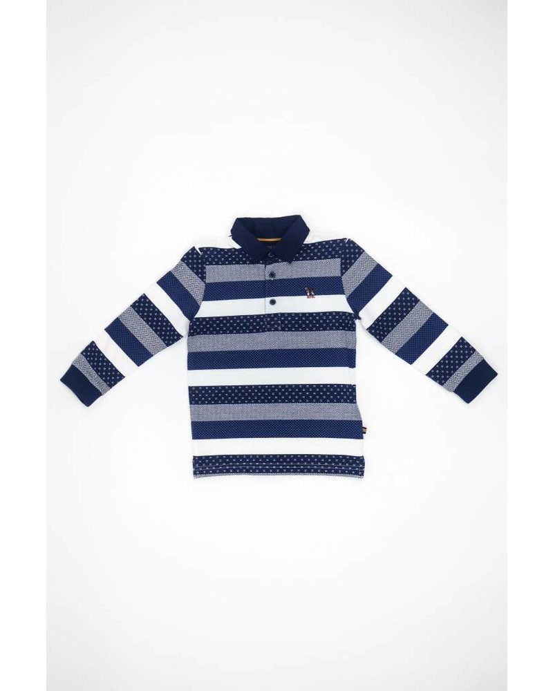 Mayoral Button Collar Striped Shirt
