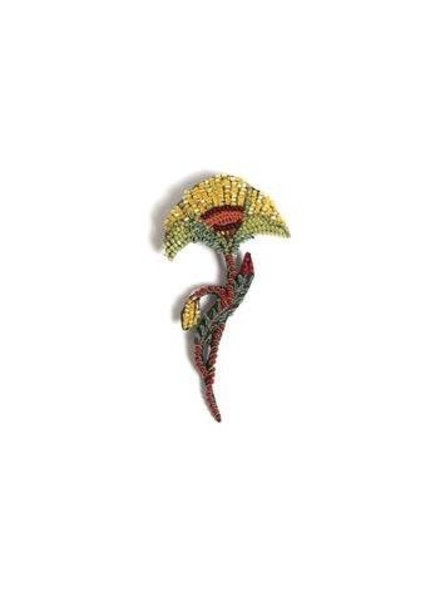 Trovelore Yellow Poppy Brooch