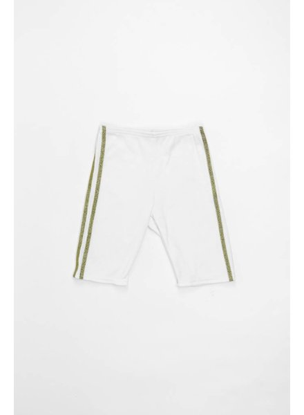 Oh Baby! Sport Biker Short With Gold Stripe
