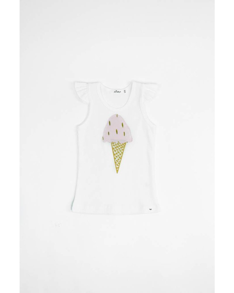 Oh Baby! Blizzard Gold Foil Pale Pink Ice Cream Tank