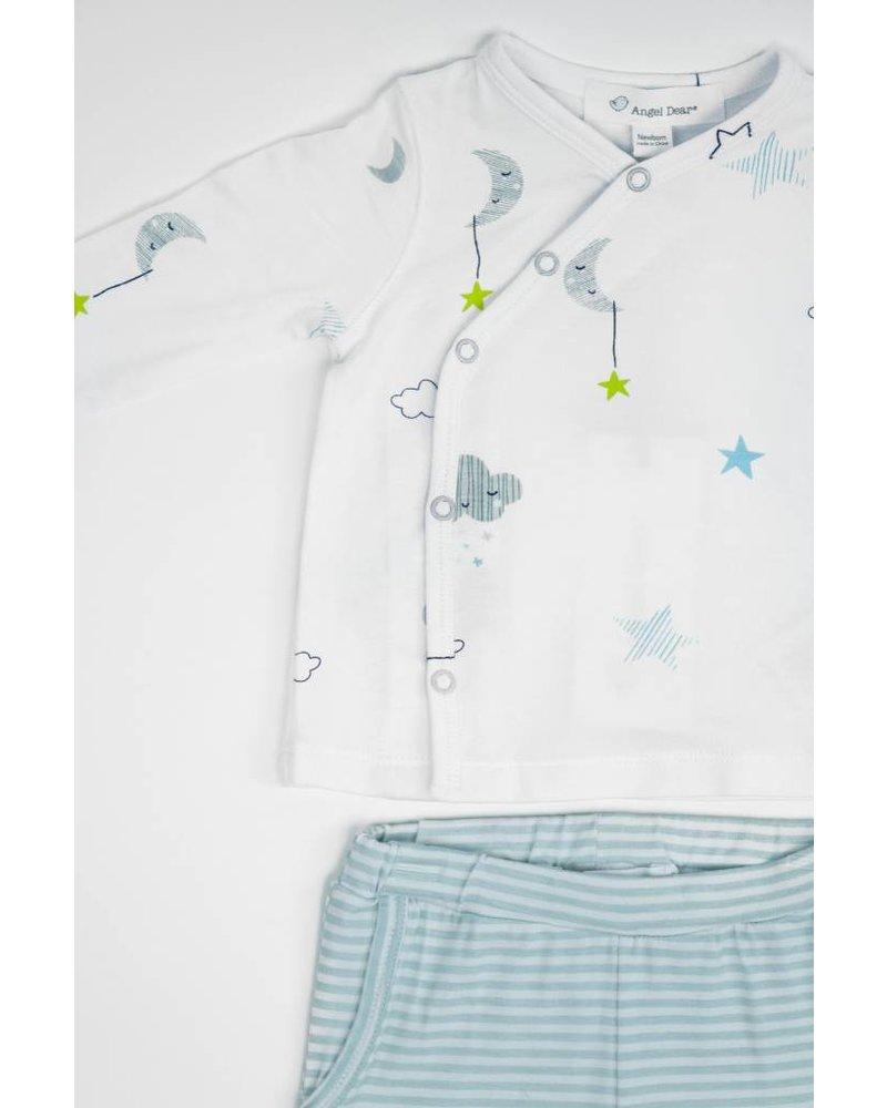 Angel Dear Cloud & Star Print Shirt / Short Set