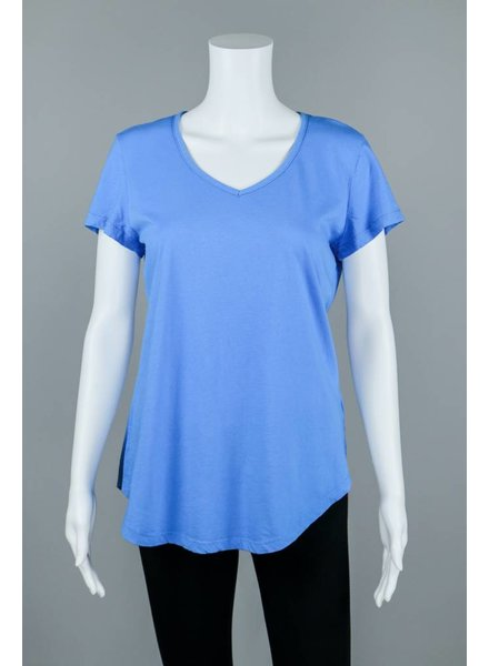Prairie Cotton Short Sleeve Cotton Shirt Tail T-Shirt