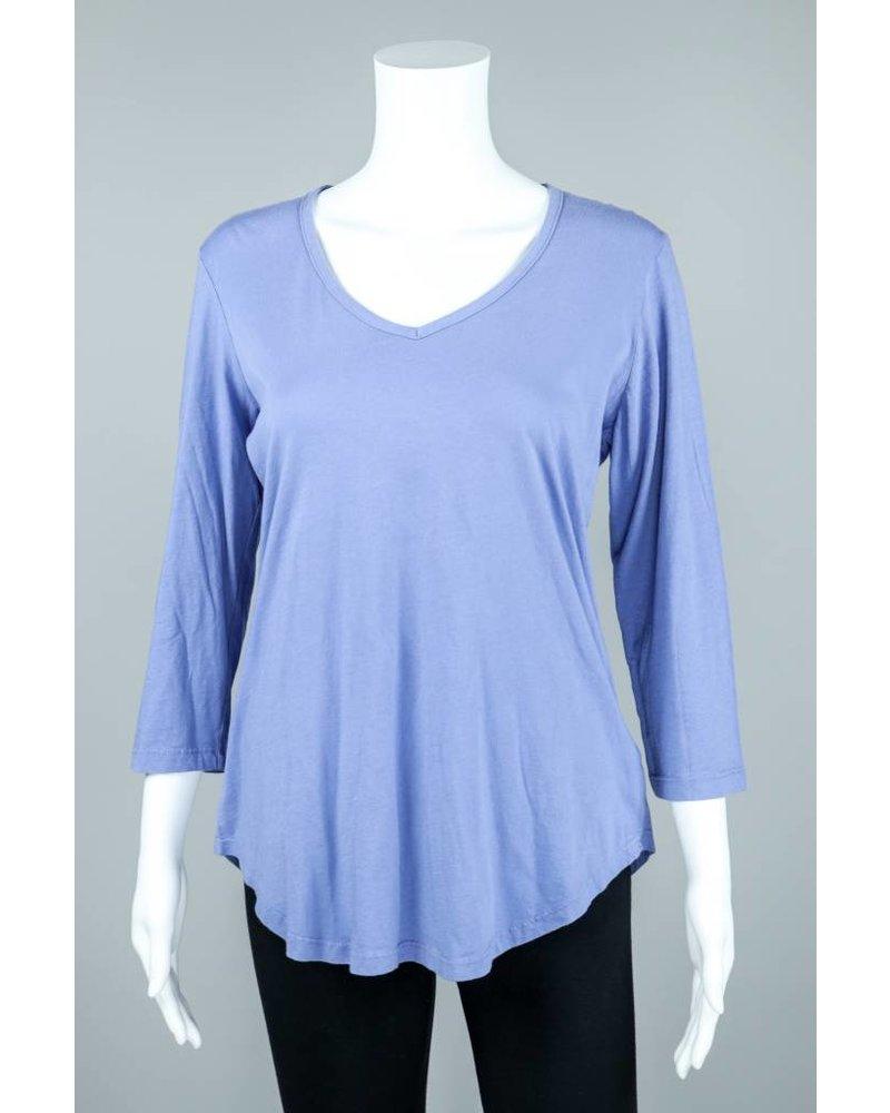 Prairie Cotton Cotton 3/4 Sleeve Shirt Tail T-Shirt